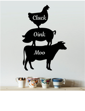 Load image into Gallery viewer, CLUCK OINK MOO COUNTRY KITCHEN WALL DECAL