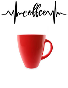 COFFEE HEARTBEAT WALL DECAL