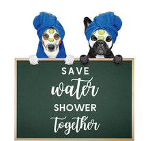 Load image into Gallery viewer, SAVE WATER SHOWER TOGETHER WALL STICKER