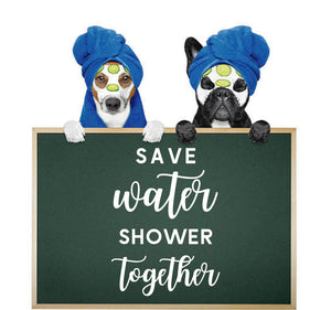 SAVE WATER SHOWER TOGETHER WALL STICKER