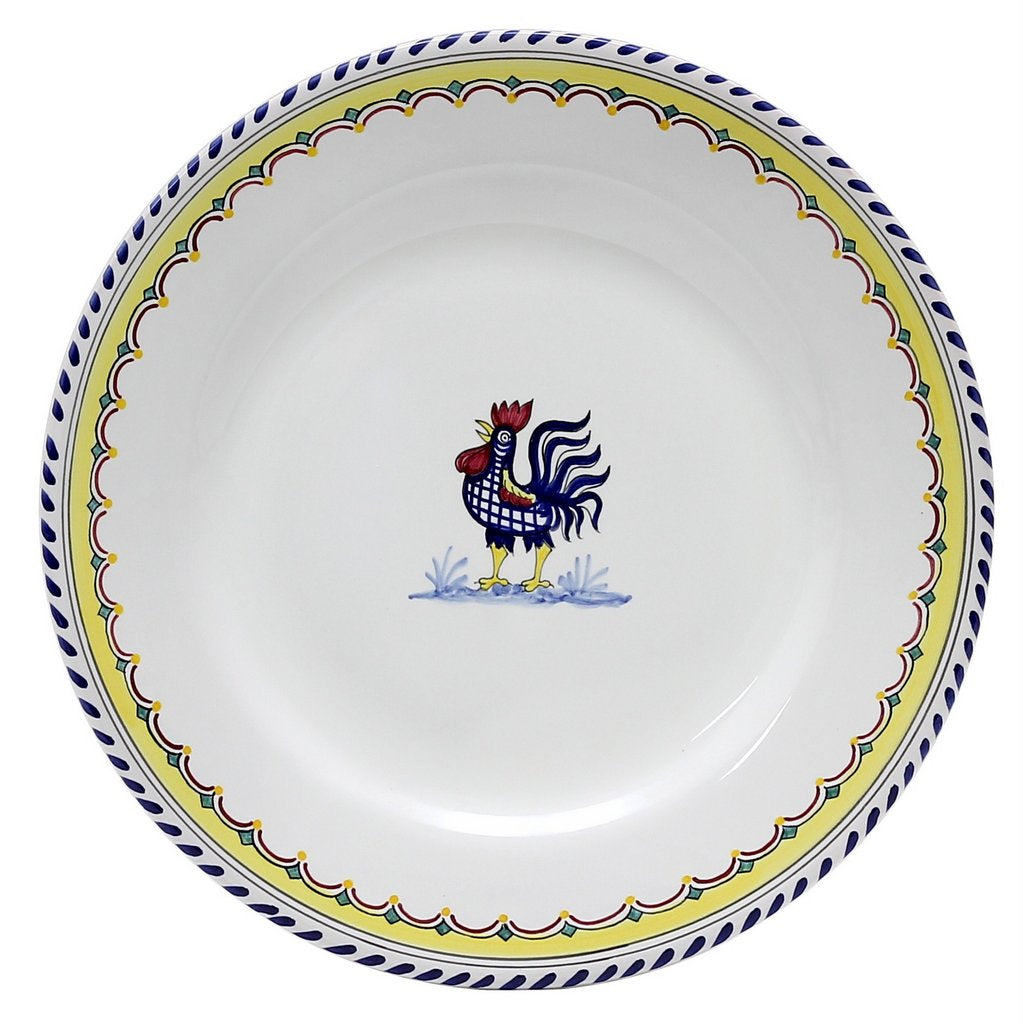 ORVIETO BLUE ROOSTER SIMPLE: Dinner Plate