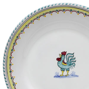 ORVIETO GREEN ROOSTER SIMPLE: Dinner Plate