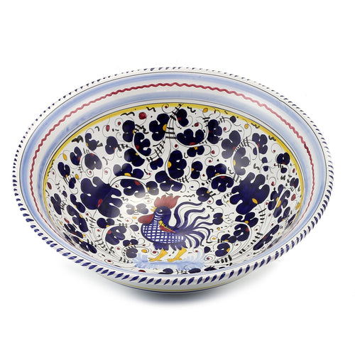 ORVIETO BLUE ROOSTER: Pasta Salad Serving Bowl Large