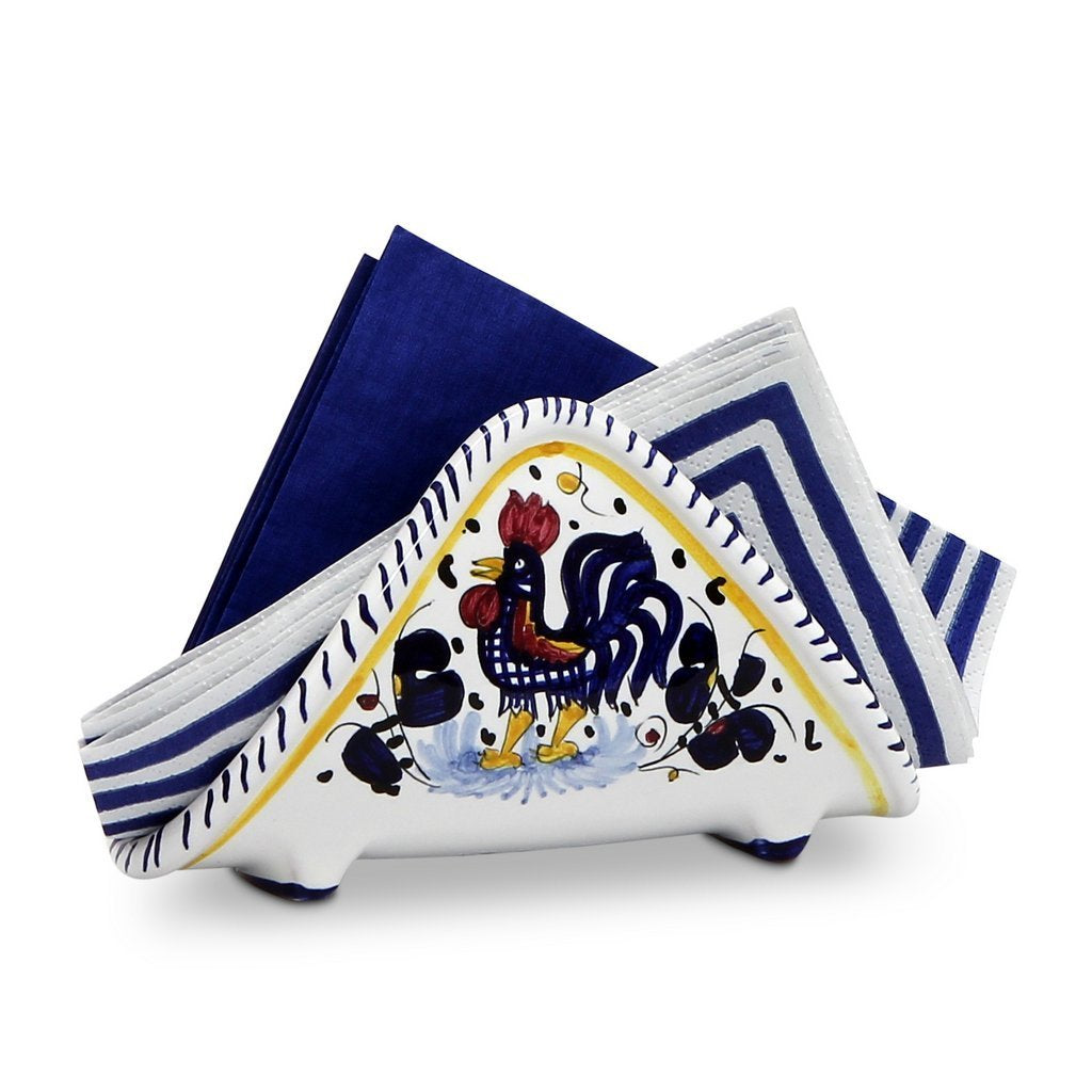 ORVIETO BLUE ROOSTER: Napkin Holder