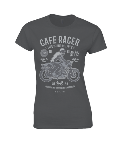 Cafe Racer v3 - Gildan SoftStyle® Ladies Fitted Ringspun T-Shirt