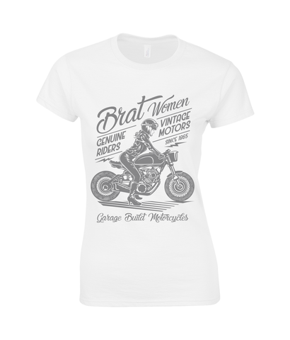 Brat Women Grey - Gildan Ladies Premium Cotton T-Shirt
