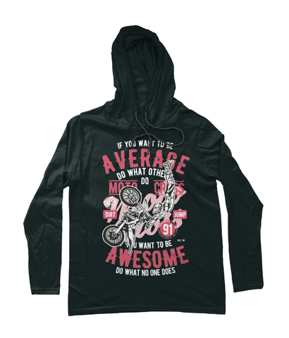 Awesome Motocross - Anvil Fashion Basic Long Sleeve Hooded T-Shirt