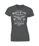 Wheels Of Fire - Gildan SoftStyle® Ladies Fitted Ringspun T-Shirt