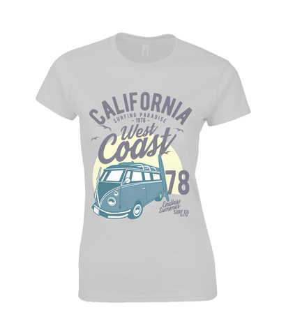 California West Coast v2 - Gildan Ladies Premium Cotton T-Shirt