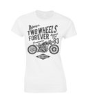 Two Wheels Forever Black - Gildan SoftStyle® Ladies Fitted Ringspun T-Shirt