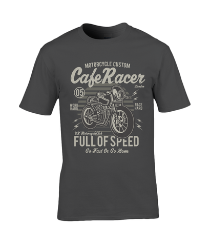 Cafe Racer v1 - Gildan Premium Cotton T-Shirt