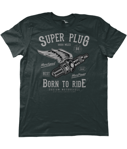 Super Plug - Anvil Fashion Basic T-Shirt - Biker T-Shirts UK