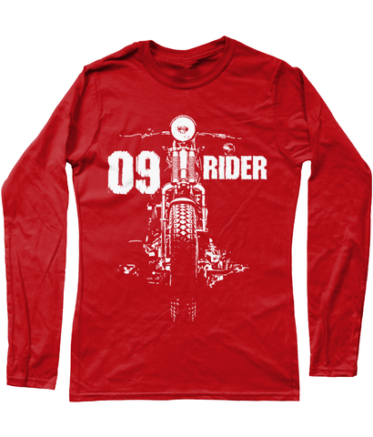 09 Rider - Gildan Ladies SoftStyle® Long Sleeve T-Shirt