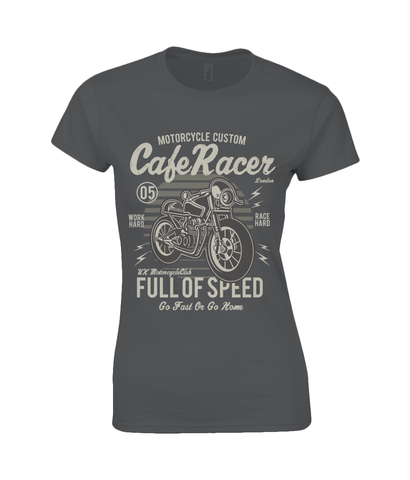 Cafe Racer v1 - Gildan Ladies Premium Cotton T-Shirt