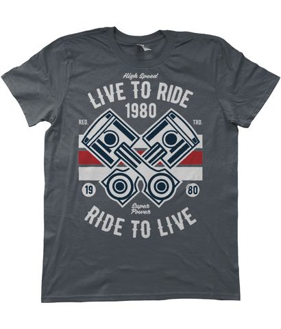 Live To Ride 1980 - Anvil Fashion Basic T-Shirt