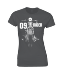 09 Rider - Gildan Ladies Premium Cotton T-Shirt - Biker T-Shirts UK