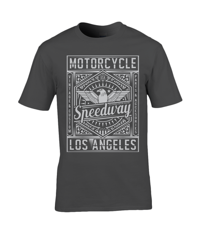 Motorcycle Speedway - Gildan Premium Cotton T-Shirt