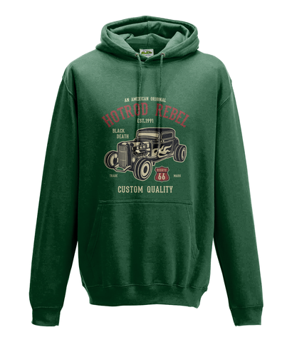Hotrod Rebel - AWDis College Hoodie Hot Rod Rebel - Biker T-Shirts UK