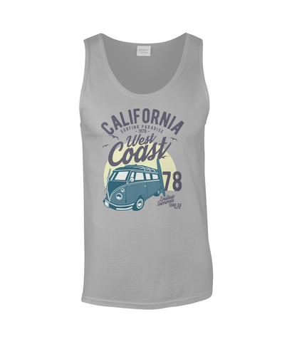 California West Coast v2 - Gildan SoftStyle® Tank Top - Biker T-Shirts UK