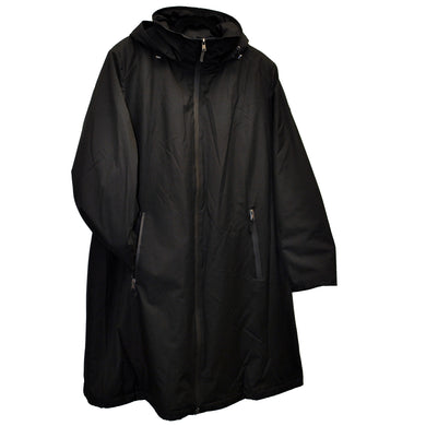 Front view Black Waterproof Lightweight Coat