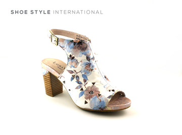 Laura Vita Shoes, Ireland Shoes online, White Multi Shoe Boot with Peep Toe, Shoe_Style_International-Wexford-Gorey-Ireland