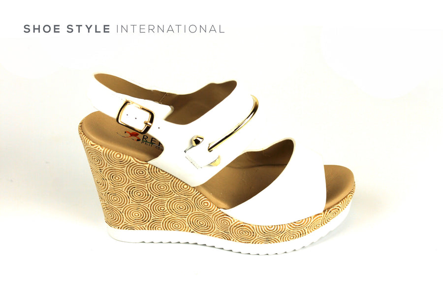 Repo Shoes, Repo Wedge Sanals White, Shoe Style International, Wexford, Gorey, Ireland, Shopping Online Ireland