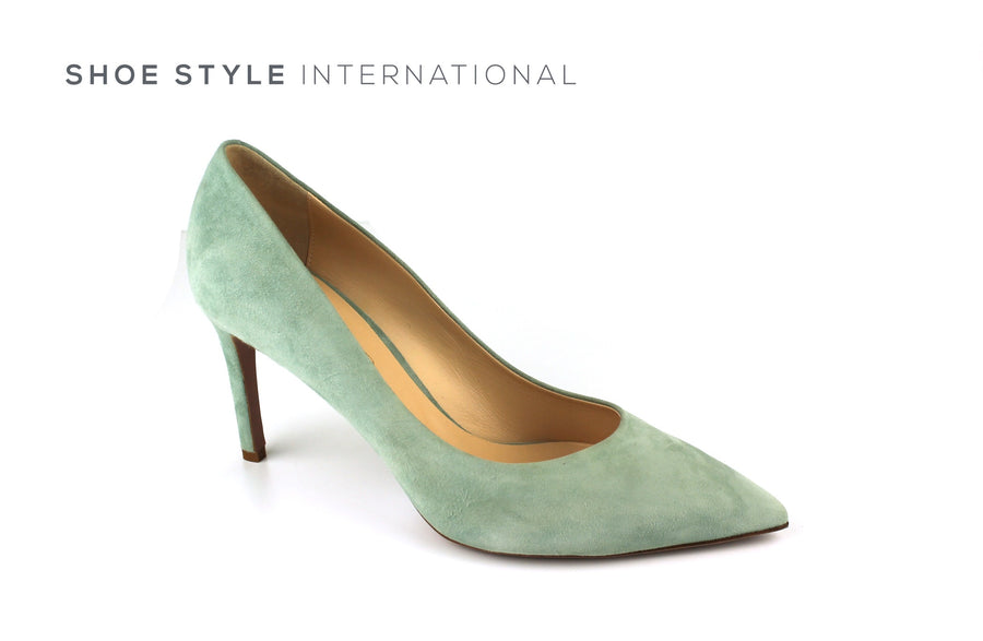 Evaluna 1606 Colour Mint Green in Suede finish high heel court shoe, Ireland Shoe Shops online, Shoe Style International, Location Wexford Gorey, Ireland
