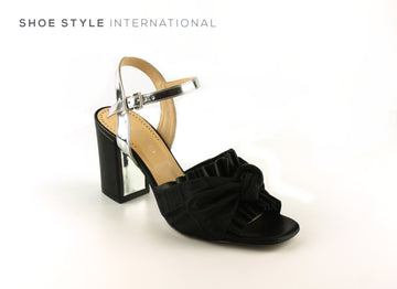 Evaluna 6704 Black Block High Heel Sandals with Ankle Strap Closing, Shoe_Style_International-Wexford-Gorey-Ireland