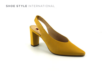 Hogl 107602, High Heel Sling back with Almond shape closed toe in Colour Mustard, Shoe_Style_International-Wexford-Gorey-Ireland