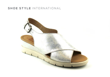 Luis Gonzalo Shoes, Luis Gonzalo 4853 Silver Open Toe Wedge Sandal, Shoe Shops online, Shoe_Style_International-Wexford-Gorey-Ireland