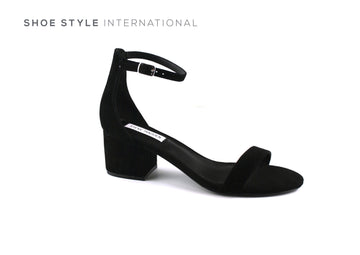 Steve Madden Shoes low heel sandals with ankle strap in Black, Shoe_Style_International-Wexford-Gorey-Ireland