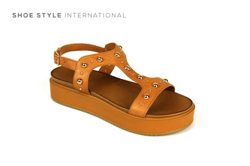 Inuovo Sandals, Inuovo Shoes, Open Toe Sandals in Tan, Shoe Style International Location Wexford Gorey Ireland,