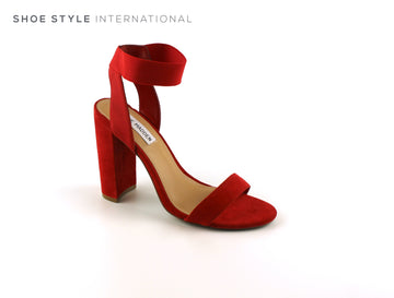 Steve Madden High Heel Sandals in Red Suede, Shoe_Style_International-Wexford-Gorey-Ireland