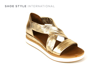Inuovo Sandals, Inuovo Shoes, Slip-on Open Toe Sandals in Gold, Shoes Online, Shoe Style International Location Wexford Gorey Ireland