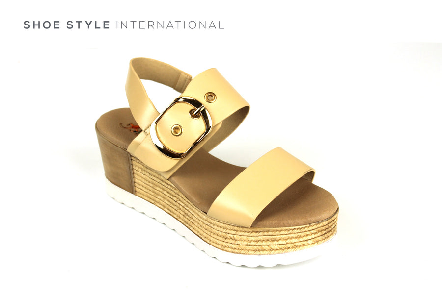 Repo Sandals, Repo Shoes, Repo 13270 Beige Wedge Open Toe Sandal, Shoe Style International Wexford Gorey Ireland, Shoes online Ireland