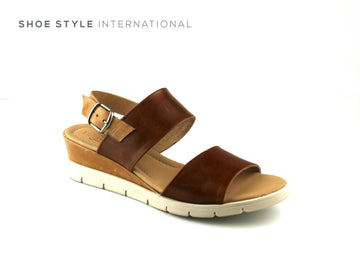 Luis Gonzalo Shoes, Luis Gonzalo 4855 Tan Open Toe Wedge Sandal, Shoe Shops online, Shoe_Style_International-Wexford-Gorey-Ireland