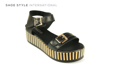 Repo Shoes, Repo Weges, Open Toe Platform Black Sandal, Shoe Style International, Wexford, Gorey Ireland, Online Shoe Shopping Ireland