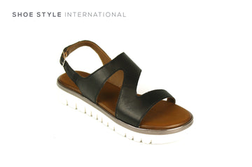 Inuovo Shoes, Inuovo Sandals, Open Toe Sandal in Black, Shoe Style International Wexford Gorey Ireland