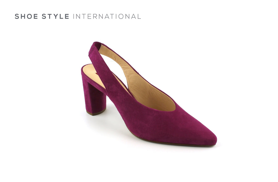 Hogl 107602, High Heel Sling back with Almond shape closed toe in Colour Fuschia, Shoe_Style_International-Wexford-Gorey-Ireland