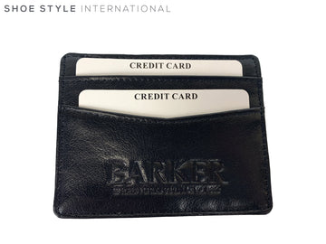 Barker Card Wallet Black