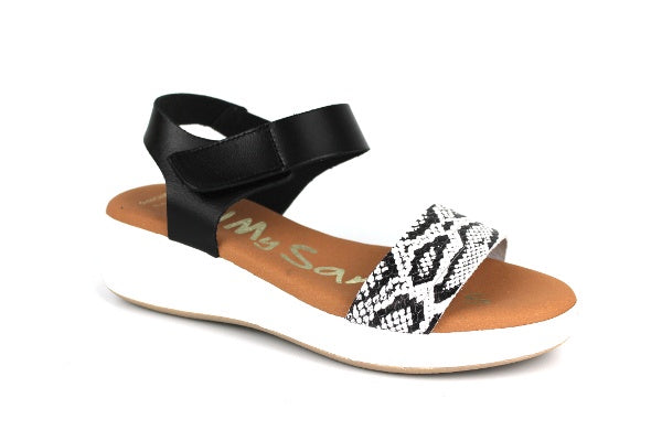 Oh My Sandals 4676 Black