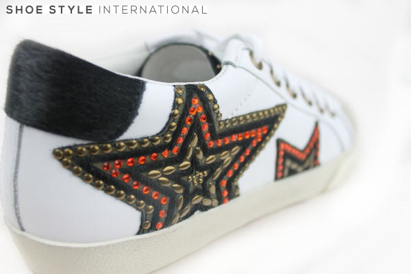 Ash Magic Trainer with Laces, has star detail on the side in multiple colours red,black,gold shoe style international gorey wexford ireland