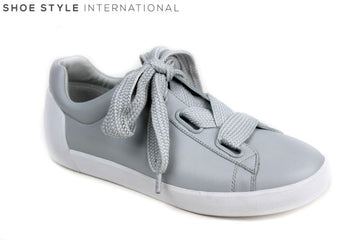 Ash Nina Trainer with Large Laces, available colour grey, shoe style international Wexford Gorey Ireland