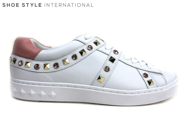 Ash Play Trainers with laces, has studded detail in colours Pink and Gold. Shoe Style International Wexford Gorey Ireland