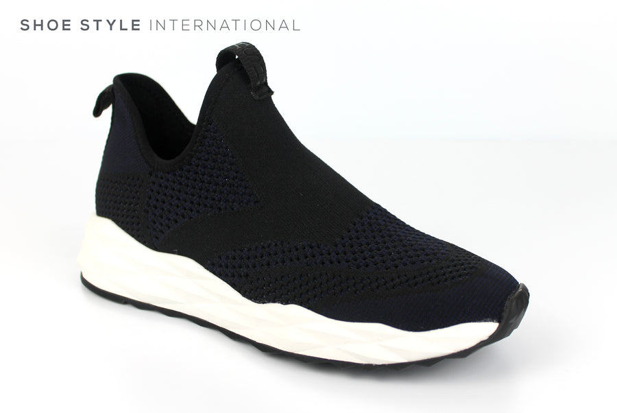 Ash Footwear, Ash Shake Knit, Slip-on Trainer in Farbic upper colour Black and Midnight Navy Spring-Summer-2019 -Shoe_Shops-online-Shoe_Style_International-Wexford-Gorey-Ireland