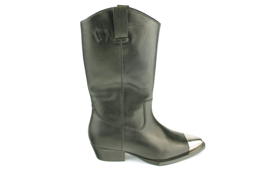 Bronx14161 Mid Calf Lenght Western Boot in Black, Ireland Shoe Shops online, Shoe Style International, Location Wexford Gorey, Ireland