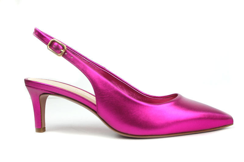 Evaluna 701, sling-back ankle strap shoe, closed toe low heel, colour Pink shoe style international Wexford Gorey Ireland