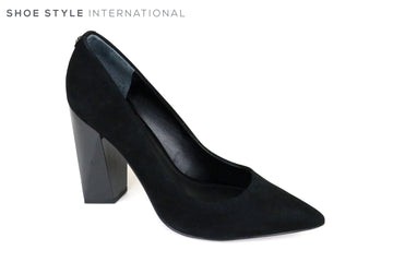Guess Odele, Block High Heel Shoe with a pointed toe Colour Black Shoe Style International, Wexford, Gorey Ireland