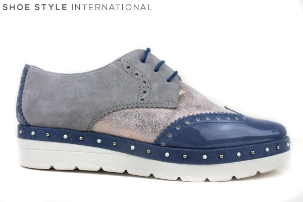 Hispanitas 87138 laceup brogue shoes, available colour blue, shoe style international wexford gorey ireland
