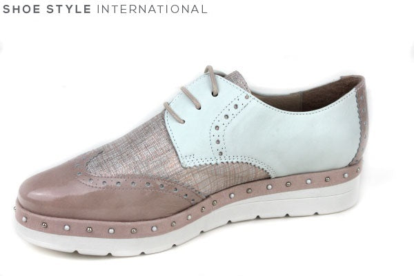 Hispanitas 87138 laceup brogue shoes, available colour blush, shoe style international wexford gorey ireland
